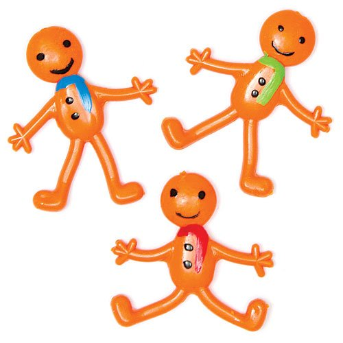 Stretchy Gingerbread Men - Perfect Stocking Stuffer for Children (Pack of 6)