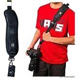 Bandoulière bandoulière noir sangle de ceinture pour Appareil photo SLR DSLR (simple)