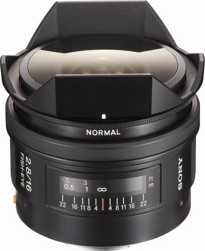 Sony SAL-16F28 16mm f/2.8 Fisheye Lens for Sony Alpha Digital SLR Camera
