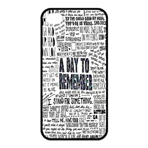 SnowPageboy- Hot selling Custom TPU Rubber Phone Case for iPhone 4 / 4S - A Day To Remember