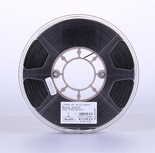 eSUN 1.75mm ePC PolyCarbonate 3D Printer Filament 0.5KG Spool (1.1lbs), Solid Black