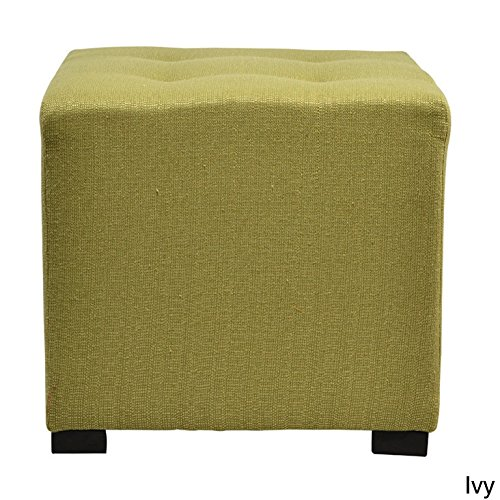 Sole Designs Merton 4-button Tufted Square Candice Ottoman Ivy by Sole Designs
