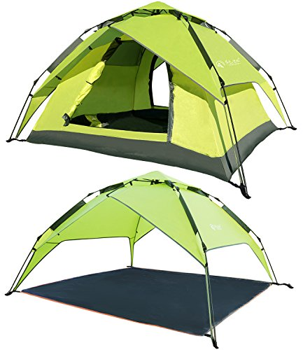 REDCAMP 2-3 Person Instant Tents for C&ing Automatic Waterproof Tent 3 Season Two-function C&ing Tent with Sun Shelter  sc 1 st  Hiking Gear Store & REDCAMP 2-3 Person Instant Tents for Camping Automatic Waterproof ...