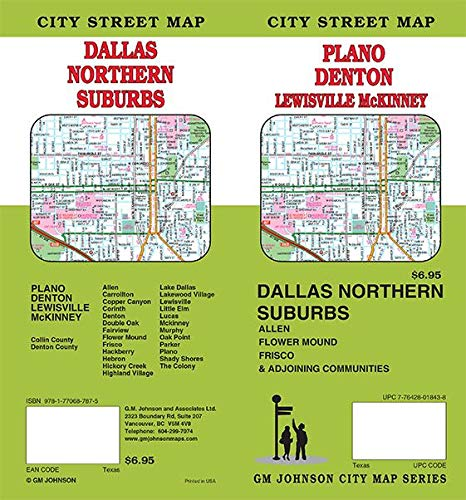 Denton / Plano / McKinney / Dallas North, Texas Street Map ...