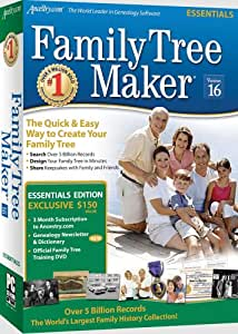 Family Tree Maker Version 16 Essentials [OLD VERSION]