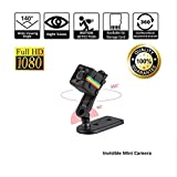 Mini Wireless Hidden Spy Camera Secret Micro Security Cameras for Indoor or Outdoor Surveillance Home Office or Car Video Recorder with 1080p HD Recording and Night Vision 1 Cubic Inch