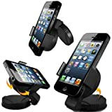 New Horrizon - 360° WINDSCREEN / DASH CAR MOBILE PHONE HOLDER STAND CRADLE MOUNT FOR IPHONE 5S 5C 5 4 4S HTC SAMSUNG FIT To All Mobiles