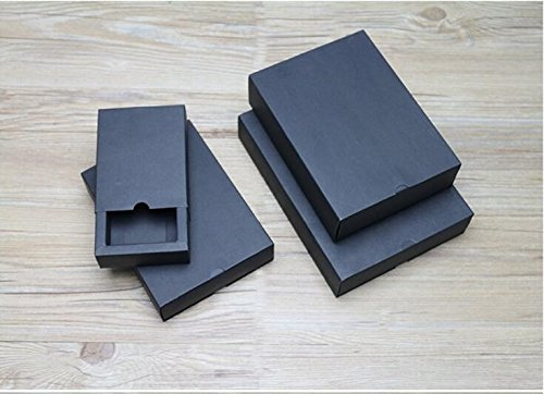 XLPD Black/White/Kraft Jewelry Gift Box 20PCS Wedding Drawer Gift Boxes for Bracelet/Jewelry/Watch/Necklace/Ring Black 120x90x33mm from XLPD