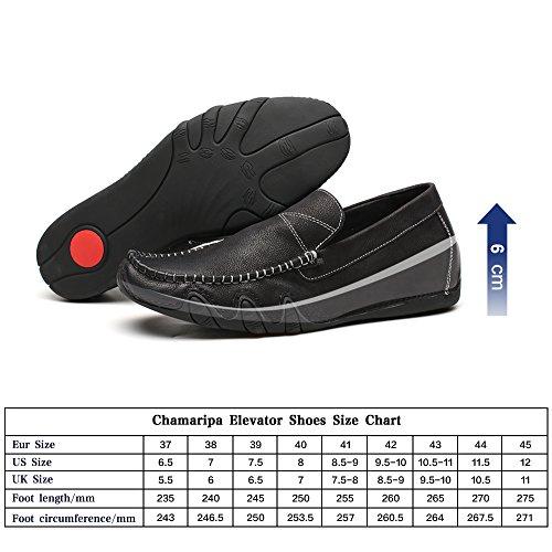 Conduite cm Rehaussante Plat H81C19K181D de Homme Mocassins Noir CHAMARIPA Chaussure Décontractés 6 pour wp1fnq0