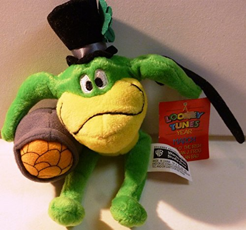 (SUPER RARE 1999 WARNER BROS STUDIO LOONEY TUNES MICHIGAN J FROG LUCK O THE IRISH MINI BEAN BAG Edition Toy Stuffed Animal Plush Doll)