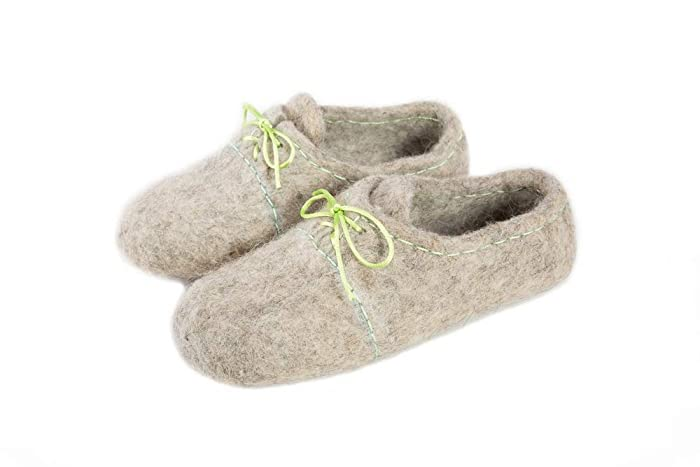 66d561855e69f Felt felted wool slippers/clogs / house shoes/mules / woman's/men's ...