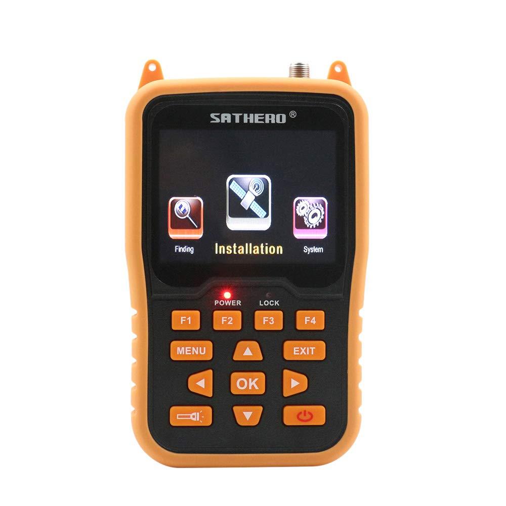 Festnight SATHERO SH-400HD Global Universal TV Signal Finder Meter DVB-S/S2 Full HD 1080P Digital Meter H.264 MPEG-4 with 3.5 Inch LCD Display 2800mAh Battery US Plug by Festnight
