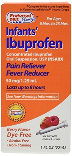 Ibuprofen Infants Pain Reliever Fever Reducer Drops, Berry Flavor, Dye Free - 1 Oz by ACTAVIS - OTC ()