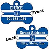 Duke Blue Devils Double Sided Pet Id Dog Tag Personalized With 4 Lines of Text