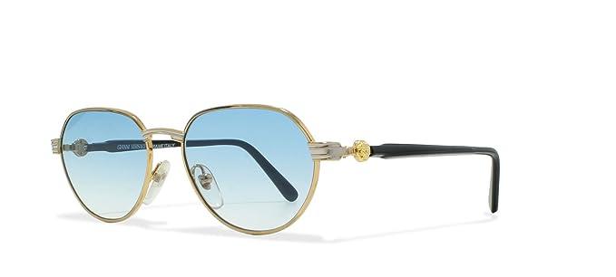 b4ff48fce6c4 Versace Gianni Lunette de soleil - Femme Gold, Black Medium  Amazon ...