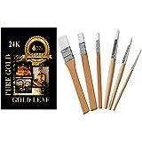 Gold & silver Leaf sheets gilding 6 brush set Gilding, Art, Design
