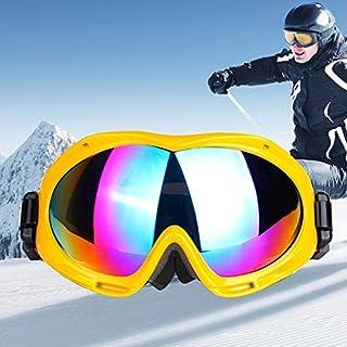 Xiaochou@sl Unisex de Doble Capa antivaho Protección contra el Viento Protección UV Gafas esféricas con Correa Ajustable ampliada, H017 Claro (Color : Amarillo)