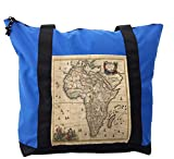 Lunarable Antique Shoulder Bag, Old Map of Africa Continent, Durable with Zipper