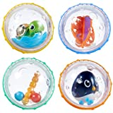 #5: Munchkin Float and Play Bubbles Bath Toy, 4 Count