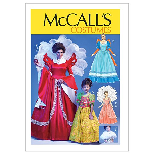 MCCALLS M6629 MISSES/CHILDREN COSTUMES DRESSES (SIZE S-XL) SEWING PATTERN -
