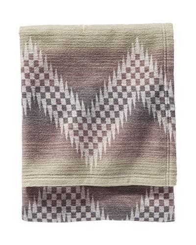 Pendleton Willow Basket Organic Cotton Blanket, Fog, King Size ()