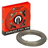 Precision Brand 29031 Stainless Steel Wire, 1 Pound Coil, 285 Ksi Min Tensile Strength, 300 Series Stainless Steel, 315 Ksi Max Tensile Strength, 0.031″ Diameter