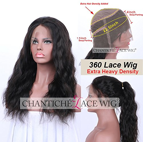 Chantiche High Density Body Wave 360 Lace Frontal Wigs Human Hair for Black Women with High Ponytail Brazilian Remy Full Lace Wigs For Women with Natural Hairline 14inches Natural Color