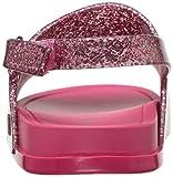 Mini Melissa Girl's Beach Slide Sandal Pink Glitter Size 9 Toddler