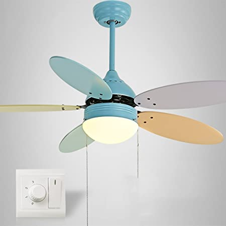 Ceiling Fans With Lamp Ceiling Fan Light Children S Fan Light Bedroom Ceiling Fan Home With Led Color Macarons Fan Chandelier High Quality Motor Quality Assurance Comfortable And Muted Amazon Co Uk Kitchen Home