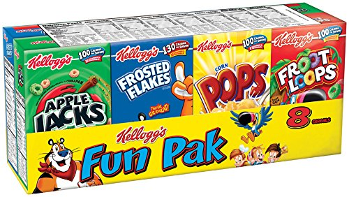 Easy Pack Corners (Kellogg's Cereals Variety Fun Pak - 8 ct)