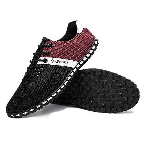 Ejercicio Zapatos Negro Malla Aire Libre Hombres Plano Respirable de Agua Suave Ligero Casual CUSTOME de Neopreno Al Zapatos Traje UqawnIT