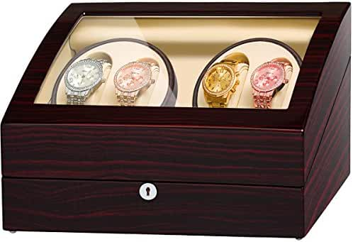 JQUEEN 4 Automatic Watch Winder and Storage Case