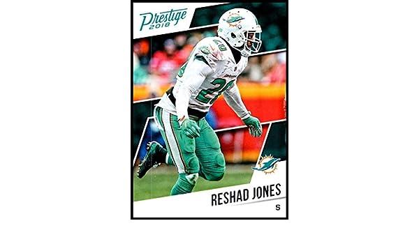 fbb37a92 Amazon.com: 2018 Prestige NFL #48 Reshad Jones Miami Dolphins Panini ...