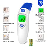 Baby Forehead Thermometer with Ear Function FDA and CE Approved - Clinical Accuracy Suitable for Baby, Infant, Toddler and Adults