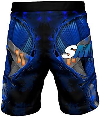 UFC y Gimnasio SMMASH Fight Machine Electric Pantalones Cortos de Deporte para Hombre para el Entrenamiento de MMA BJJ