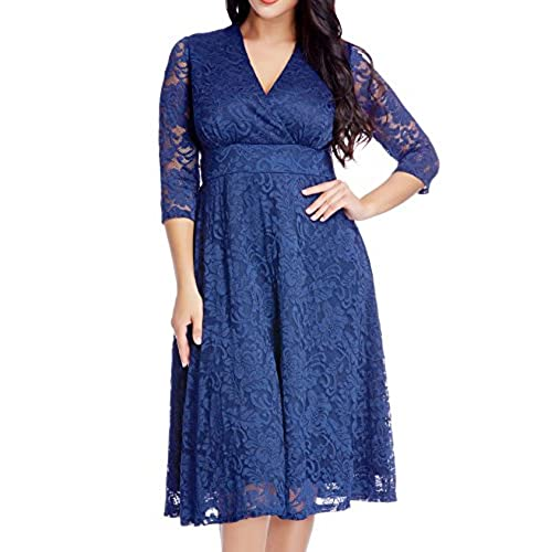 Navy Blue Plus Size Dress Special Occasion Amazon