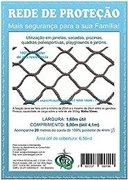 Kit Rede/Tela De Proteção Preta -6,56 M2