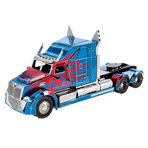 Fascinations ICONX Transformers Optimus Prime Western Star 5700 Truck 3D Metal Model Kit