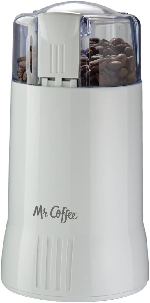 Mr. Coffee Electric Blade Coffee Bean Grinder, White