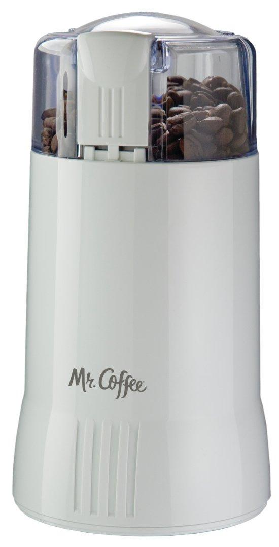 Mr. Coffee Electric Blade Coffee Bean Grinder, White