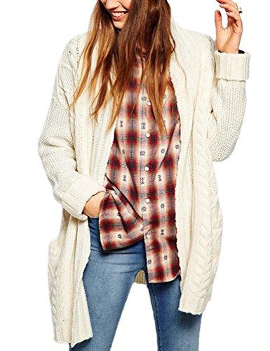 Cream Cardigan Sweater - 1