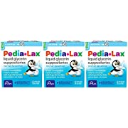 Pedia-Lax Liquid Glycerin Suppositories Laxative | Gentle, Safe Relief | Works in Minutes | No Mess | #1 Pediatrician Recommended | Ages 2-5 Years | 3 Boxes Total