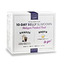 10-Day Belly Slimdown Bone Broth Collagen Pack by Dr. Kellyann - 10 Bone Broth Packets...