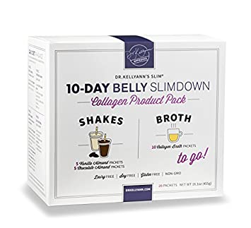 10-Day Belly Slimdown Bone Broth Collagen Pack (20 Servings) by Bone Broth