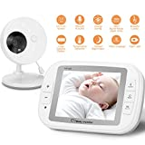 """YISSVIC Baby Monitor 3.5"""" Video Baby Monitor Wireless Color LCD Screen with Night Vision Temperature Monitor Two Way Audio Talk For Sale"""