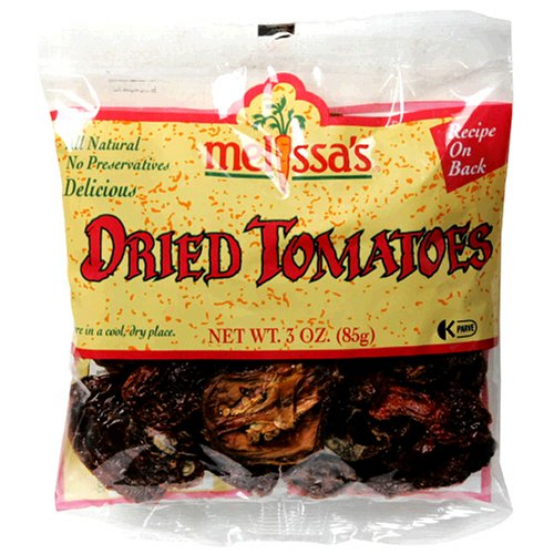 Melissa's All-Natural Dried Tomatoes, 3-Ounce Bags (Pack of 12)