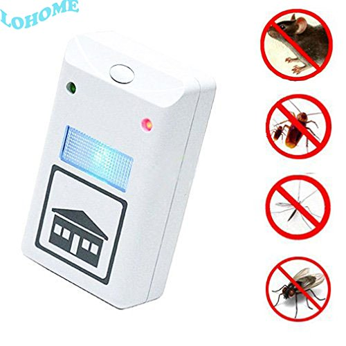 LOHOME As Seen on TV! Pest Repeller Pest Control No-poison Pest Repelling Aid Against Mouse, Rat and Insects with Built in Night Light