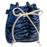 ZOMUSAR Bucket Bag for Women Plush Leopard Print Hasp Shoulder Bag Messenger Crossbody Purse Tote (Blue)