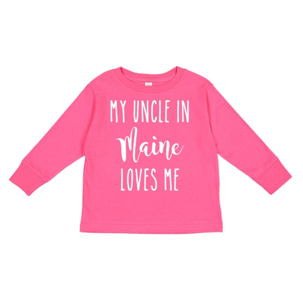 My Uncle in Maine Loves Me Toddler//Kids Long Sleeve T-Shirt