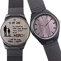 [Patrocinado] Reloj de madera grabado personalizado, casual hecho a mano, para hombres, mujeres, familiares, amigos, regalo personalizado